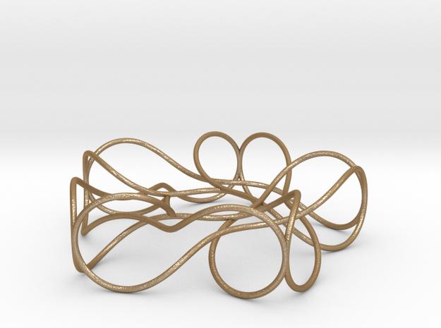 Pentagonal Knot in Matte Gold Steel
