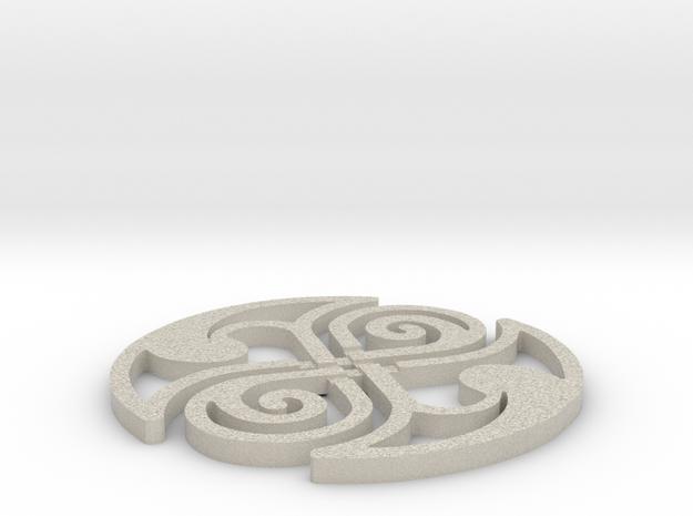 Celtic Knot Coaster 3d printed