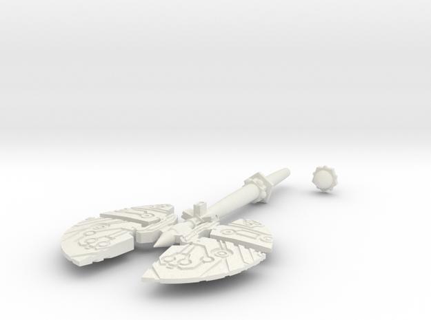 Action Figure Weapon: Split Axe (5mm peg) 3d printed