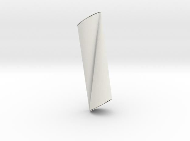 Large Straight Oni Horns in White Natural Versatile Plastic