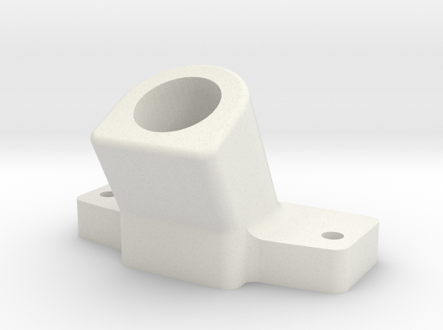 Hexa leg holder for 12mm carbon tube in White Strong & Flexible
