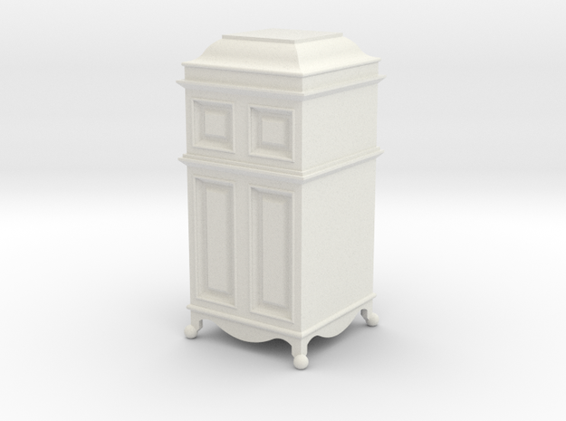 1:24 Grammophone Cabinet in White Strong & Flexible