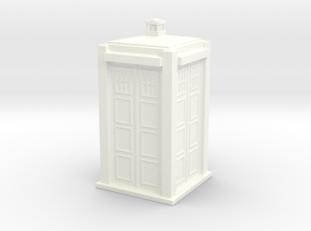 Police box in White Processed Versatile Plastic