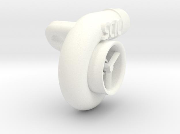 Custom Turbo (SCIC) in White Processed Versatile Plastic