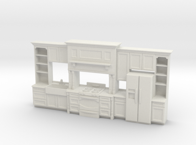 1:48 Farmhouse Kitchen E in White Natural Versatile Plastic