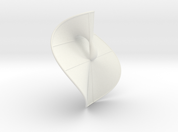 Cubic Surface KM 24 in White Natural Versatile Plastic