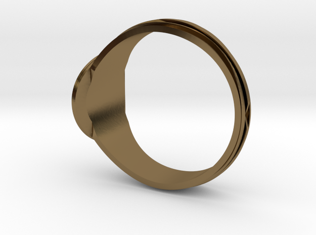 Christian Navigator Ring 3 in Polished Bronze