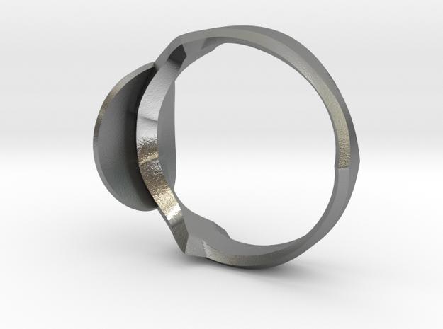 Christian Navigator Ring in Raw Silver