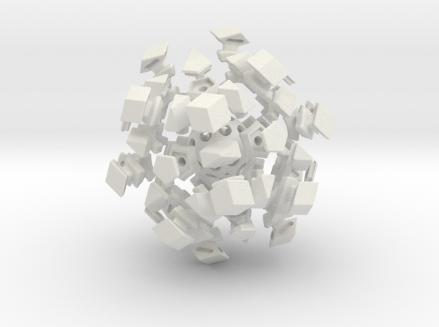 Mini-Megaminx (22mm sides) in White Strong & Flexible