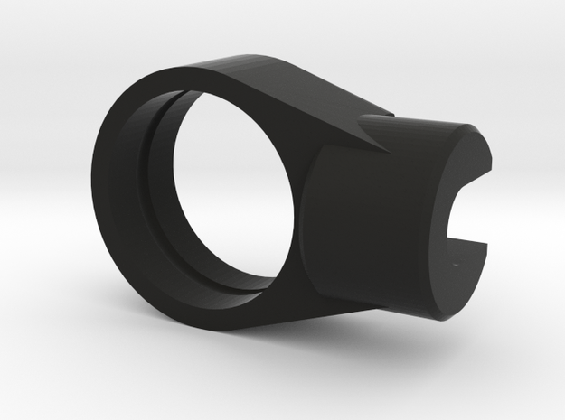"""Recurve Aperture Housing 1/2"""" for O-Rings Only in Black Natural Versatile Plastic"""