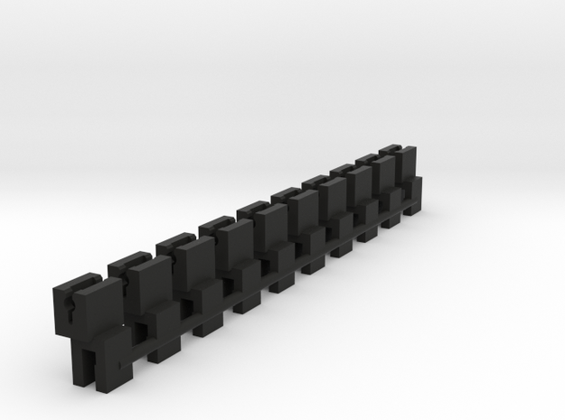 NEM adapter for Dapol Gresley bogies in Black Natural Versatile Plastic