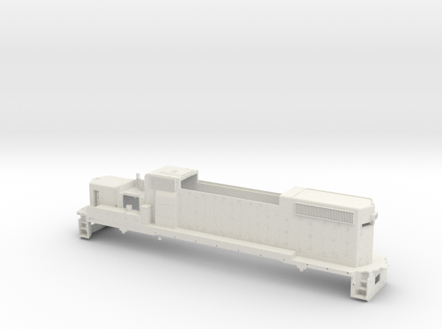 GP38 2 Locomotive Body Only Gauge 1 in White Strong & Flexible