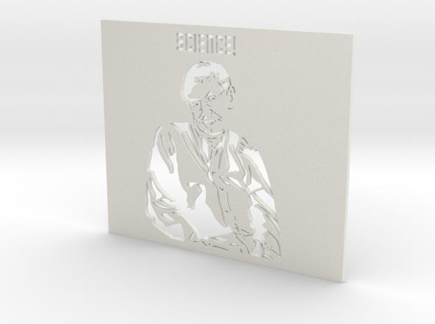 Professor Stephen Hawking SCIENCE! - Stencil in White Strong & Flexible