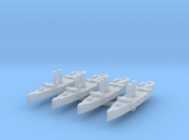USS Montgomery (1890) 1:6000 x4 3d printed
