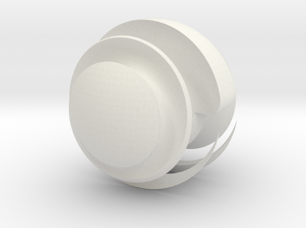 Sharp Sphere ~ small in White Natural Versatile Plastic