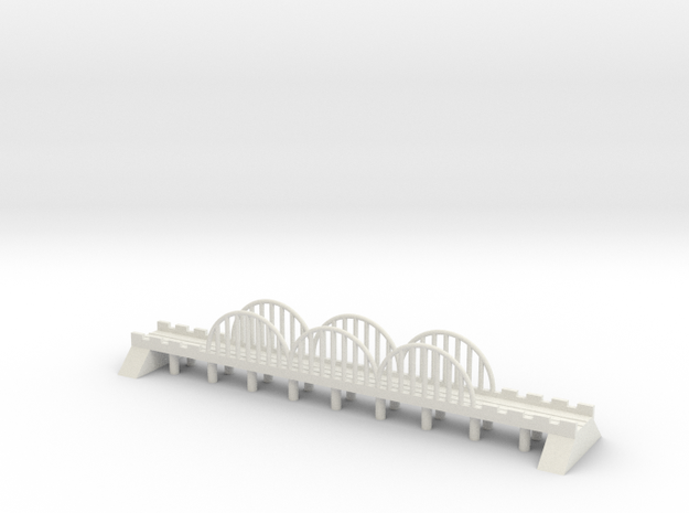 1/700 Steel Rail Bridge in White Natural Versatile Plastic