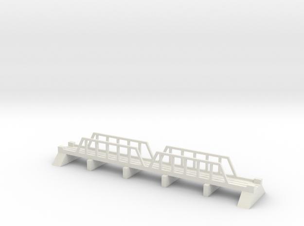 1/700 Steel Girder Rail Bridge in White Natural Versatile Plastic