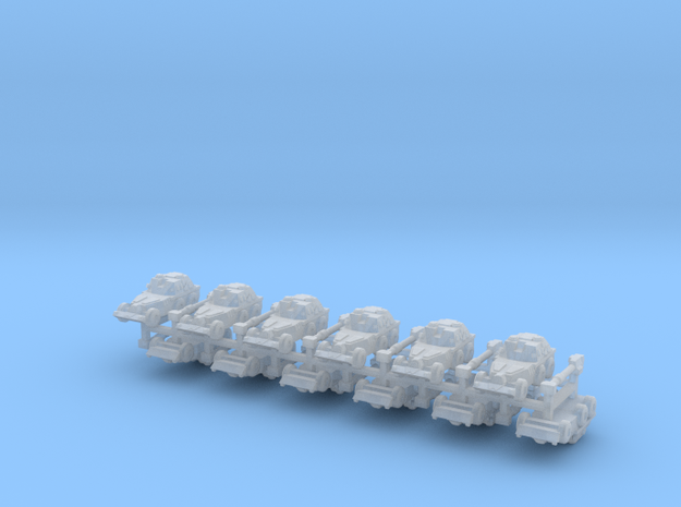 "3mm SADF G6 ""Rhino"" Wheeled Howitzers (12 pcs) 3d printed"