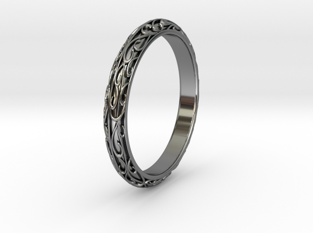 arabesque US-Ring-size9(JP-size-#18) in Fine Detail Polished Silver