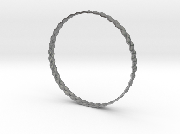 BumpBangle | silver 3d printed