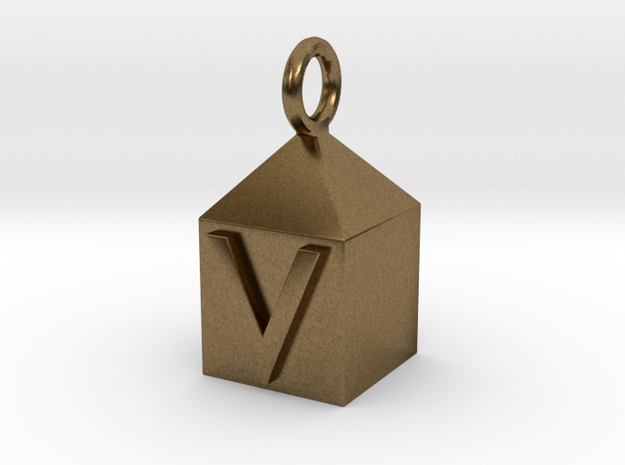 Keychain With Letter - V 3d printed