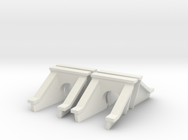 3 Foot Concrete Culvert HO Scale X 4 in White Strong & Flexible