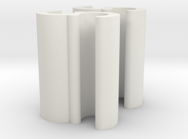 Cord Grip Clip - Pair 2mm in White Natural Versatile Plastic