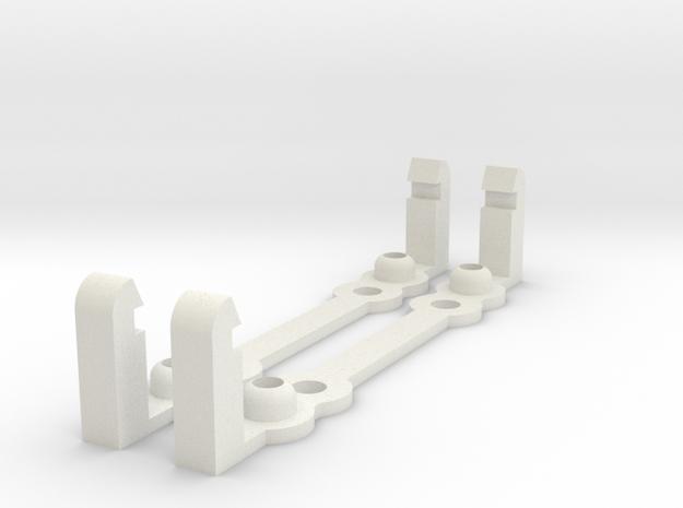 PI MOUNT 2pcs in White Natural Versatile Plastic