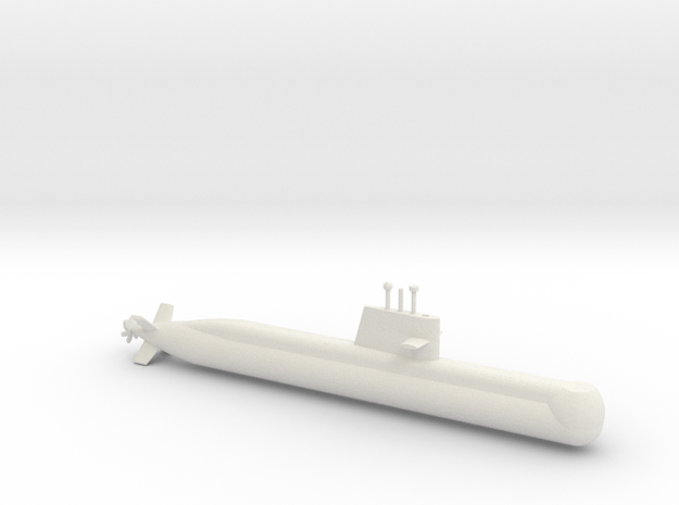 1/700 Collins Class Submarine in White Natural Versatile Plastic
