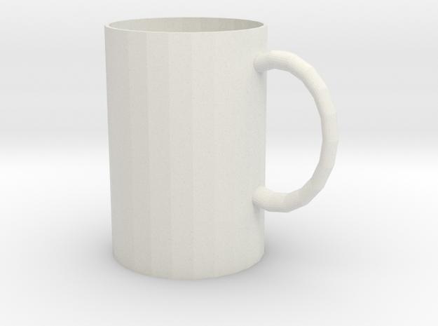 Tasse rund in White Natural Versatile Plastic