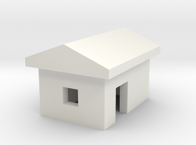 1/700 Small Barn in White Natural Versatile Plastic
