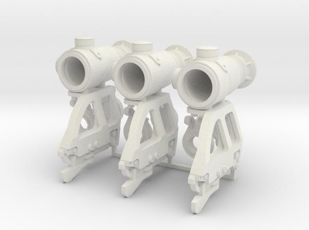 1:6 Scale Russian 1P78 Kashtan Scope X3 in White Natural Versatile Plastic