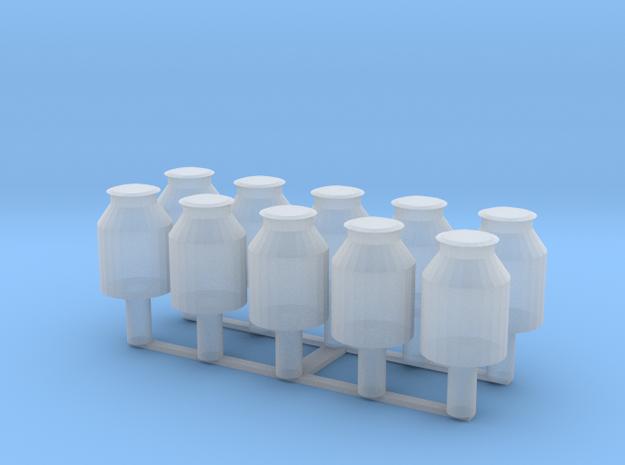 10x 10 Liter Milchkanne TT in Smooth Fine Detail Plastic