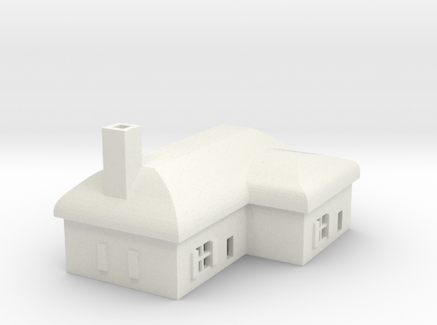 1/700 Villiage House 2 in White Natural Versatile Plastic