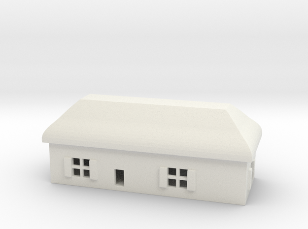 1/700 Villiage House 4 in White Natural Versatile Plastic