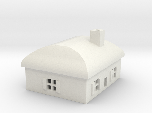 1/700 Villiage House 3 in White Natural Versatile Plastic