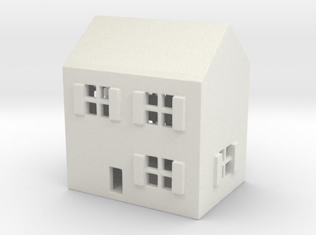1/700 Town House 1 in White Natural Versatile Plastic