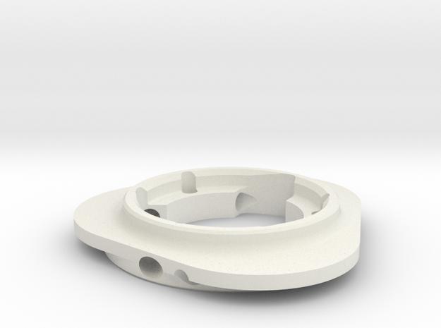 RollerClutchHousing in White Natural Versatile Plastic
