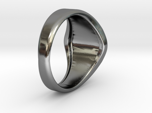 Masonic Ring Size 9 in Polished Silver