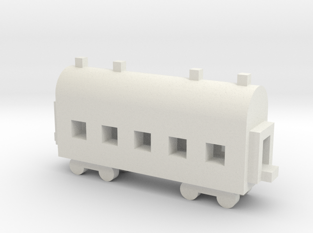 1/700 Passenger Carriage in White Natural Versatile Plastic