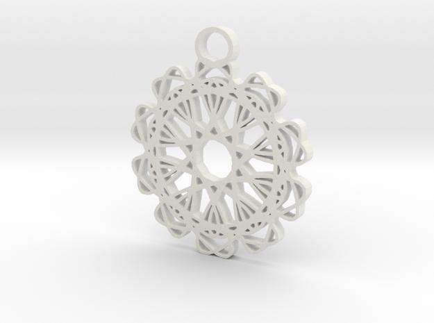 5ornament in White Natural Versatile Plastic