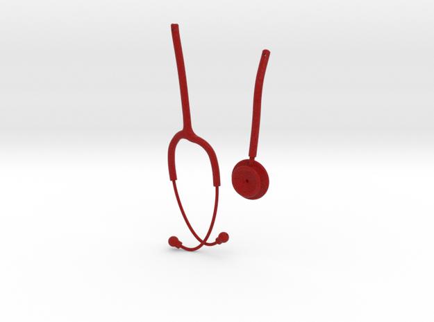 Stethoscope Burgundy V3 3d printed