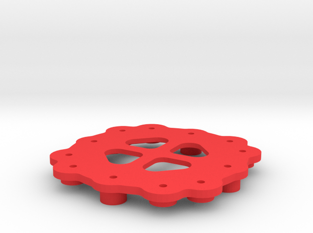 Quadrocopter - Frame Central Plate 3d printed