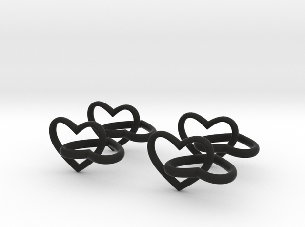 Two hearts x 4 3d printed