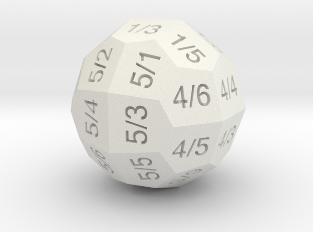 D36 Individual Numbers in White Natural Versatile Plastic