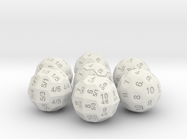 D36 Die Set in White Natural Versatile Plastic