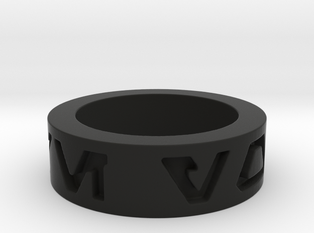 star wars i love you Ring in basic  3d printed