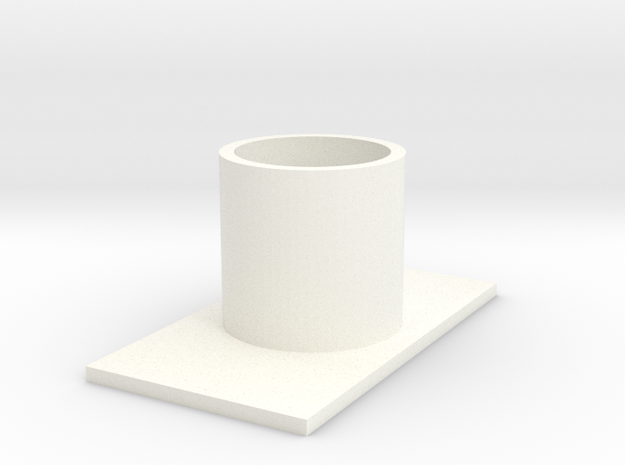 Zoid Stand simple in White Processed Versatile Plastic