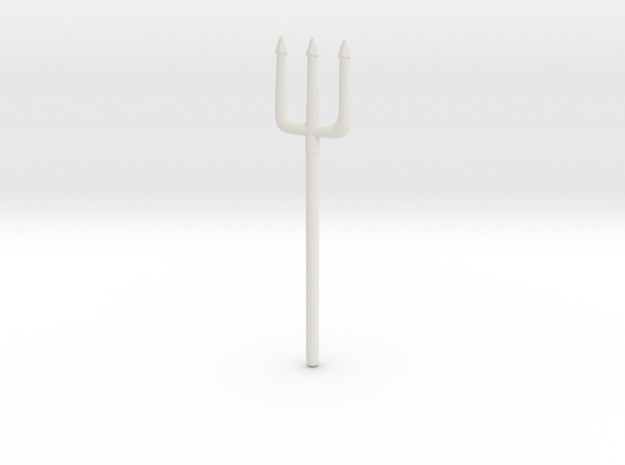 Pitchfork or Trident for Minimates in White Natural Versatile Plastic
