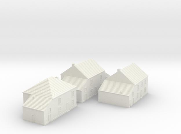 1/350 Village Houses 2 in White Natural Versatile Plastic
